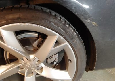 DENT STATION PLUS - painted alloy wheel repair before